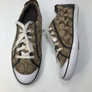 Coach Barrett Signature Leather & Canvas Sneakers